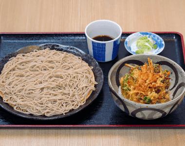 生そばセット(半野菜かき揚げ丼)